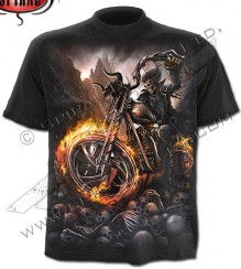 T-shirt motociclista WHEELS OF FIRE